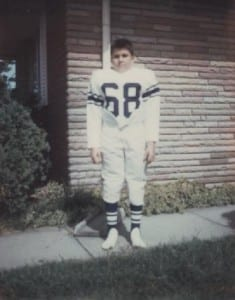 Tenth birthday. Football uniform was the birthday gift.